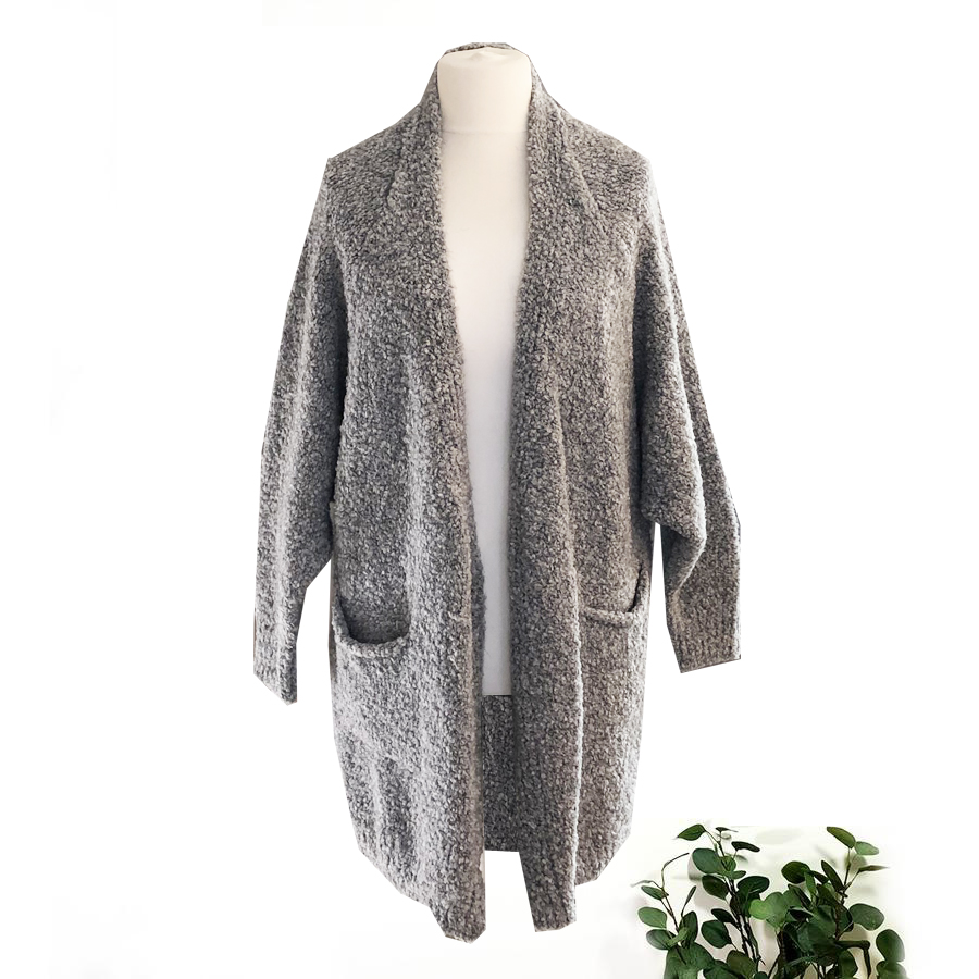 SALE WAS £60 NOW £40 Grey Boucle Cardigan