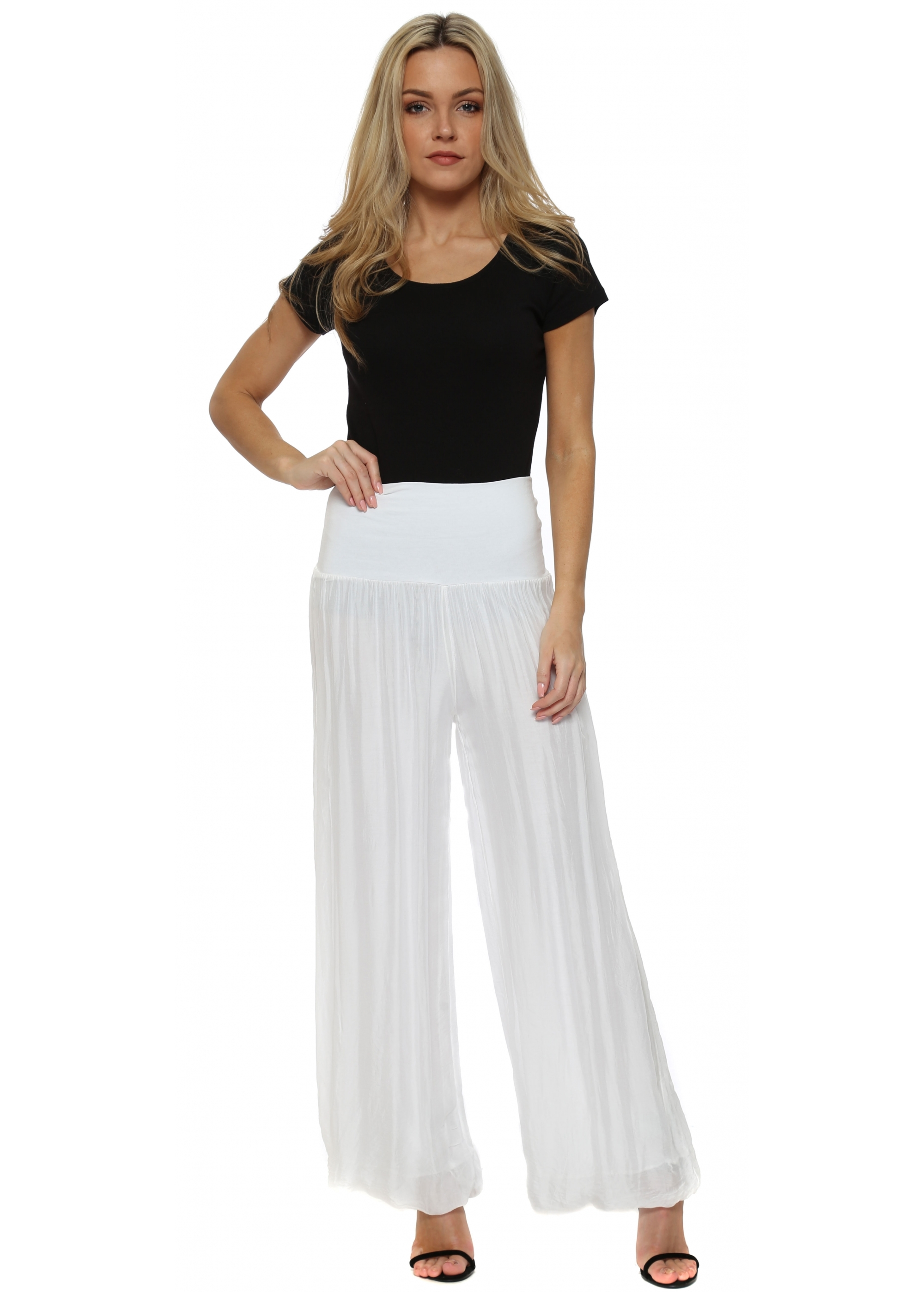 Silk Palazzo Pants in Colours