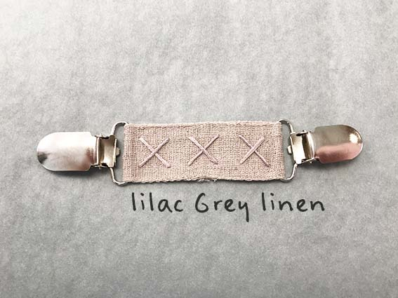 linen ribbon Lilacy grey