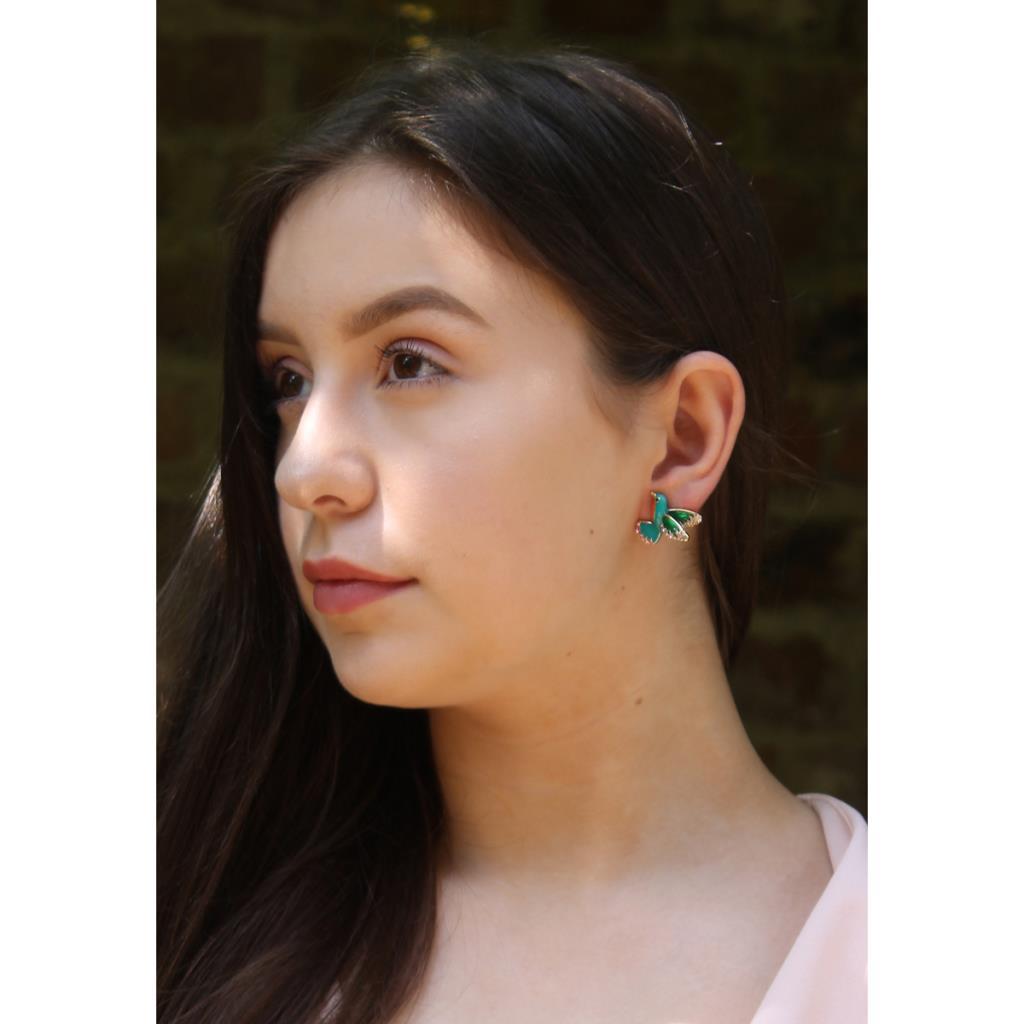 Tropical bird crystal earring