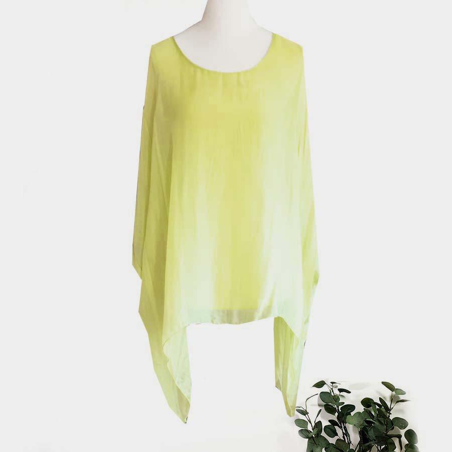 Plain Silk Square Top In Colours