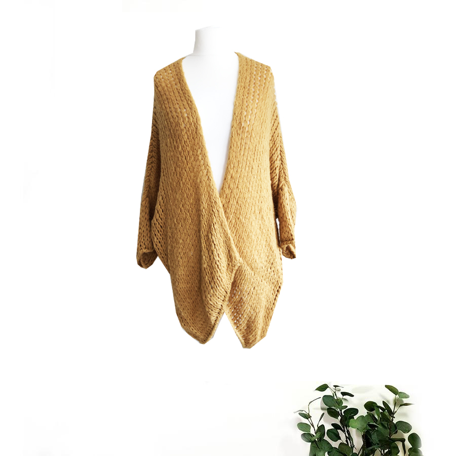 HAND KNITTED MOHAIR MIX SLOUCH CARDIGAN