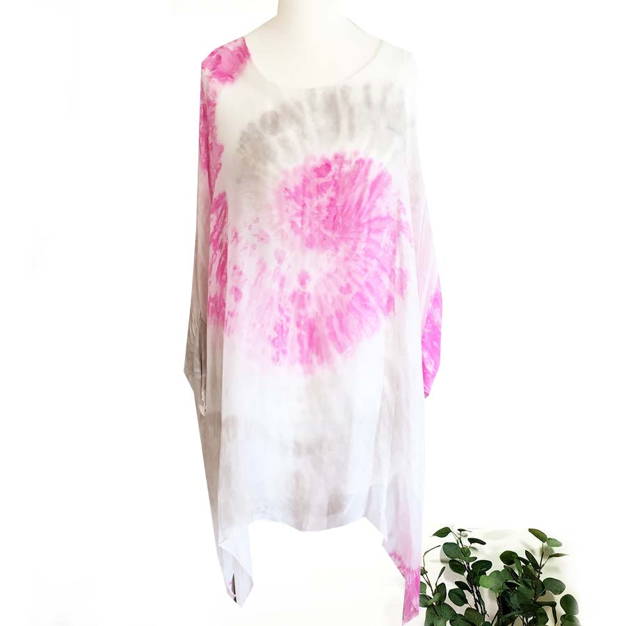 Pink Swirl Silk top