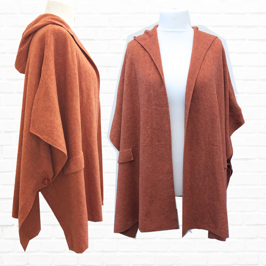 SALE WAS £69 NOW £40 Open Poncho In A Choice Of Colours