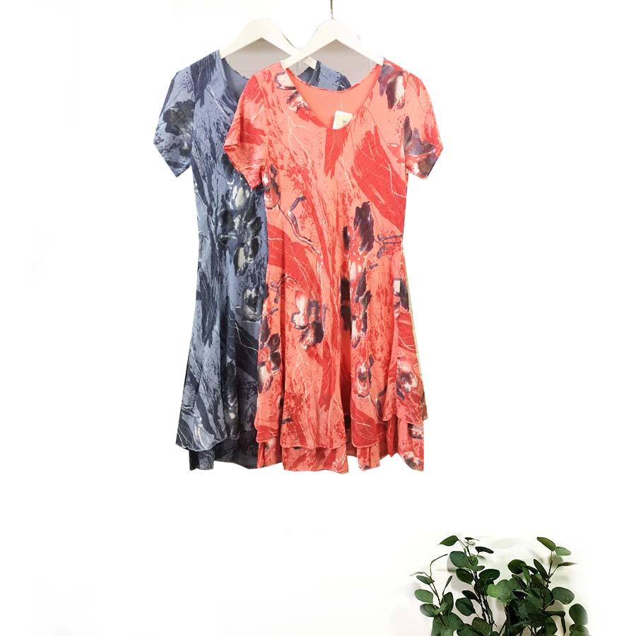 Flower Print Bias Dress