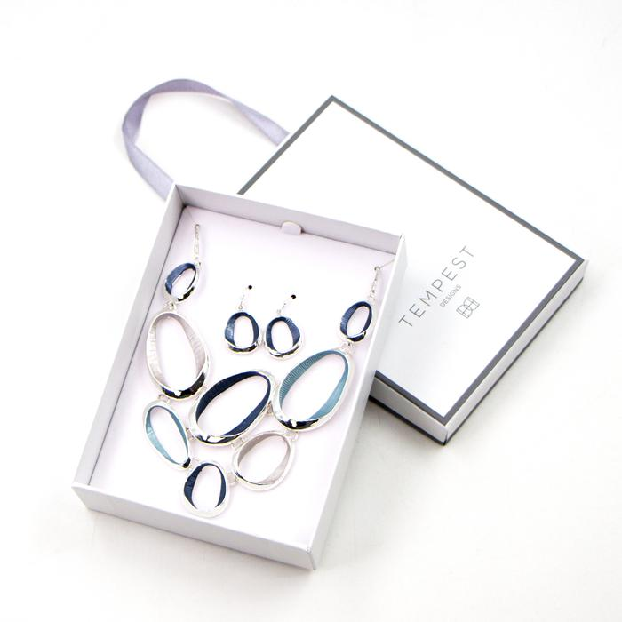 MULTI OPEN ENAMEL CIRCLES SET