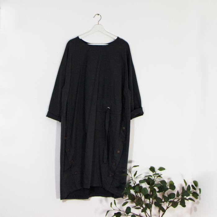Dark Grey Dress - Sarah Tempest Designs