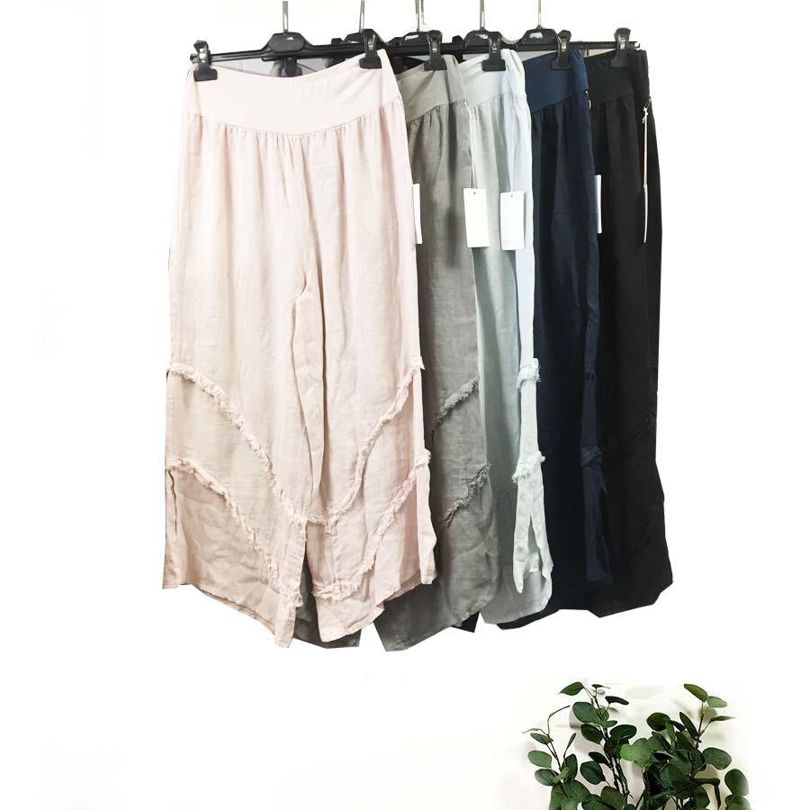 Linen Panelled Trouser