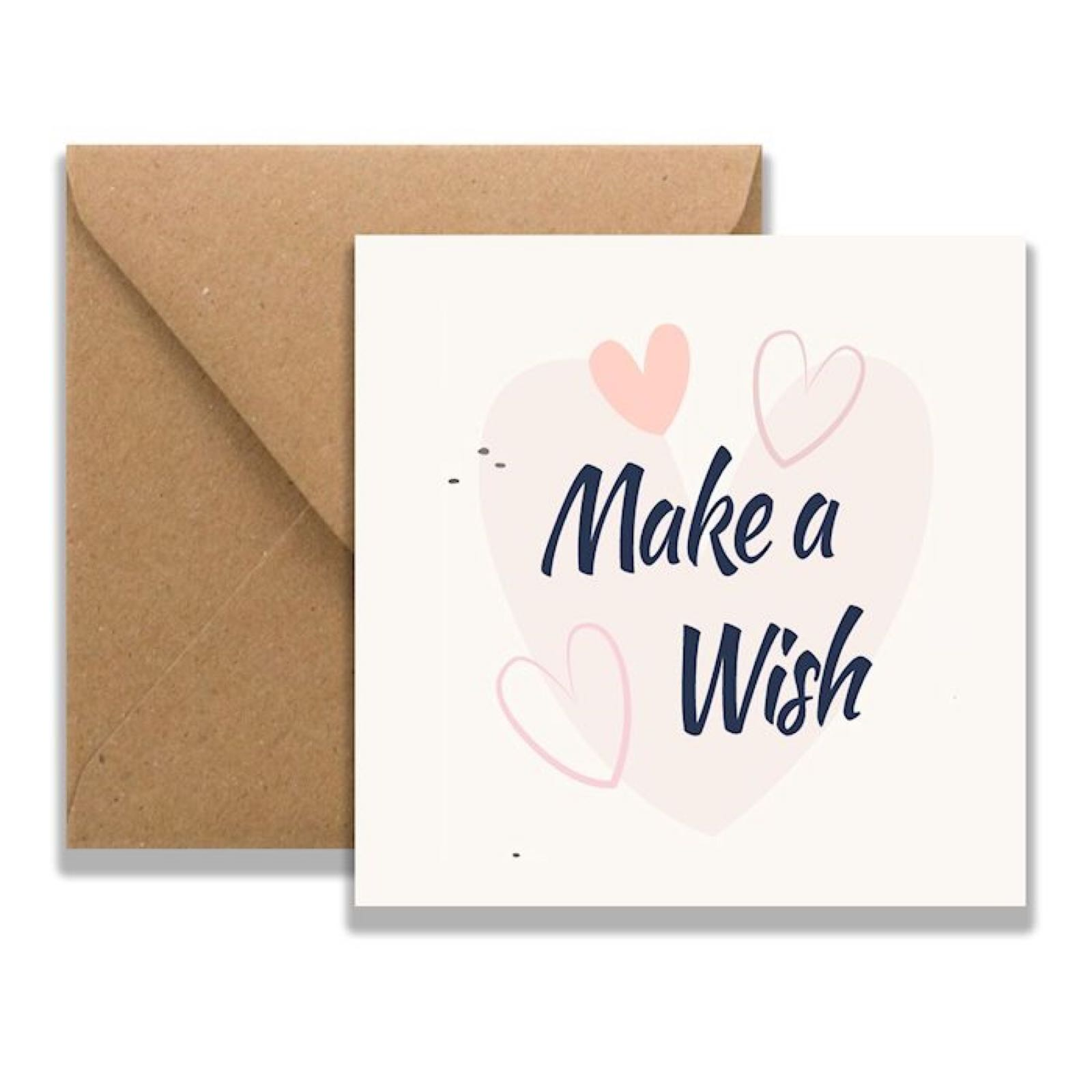 'Make a Wish Hearts' Wish Strings Card (Was £1.85)