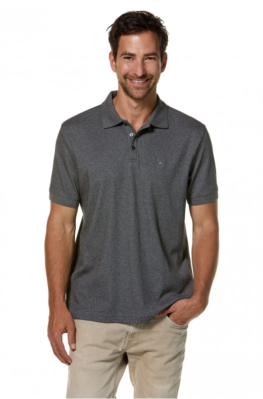 Herre - Pima - Polo Shirt Mens - Anthrazite