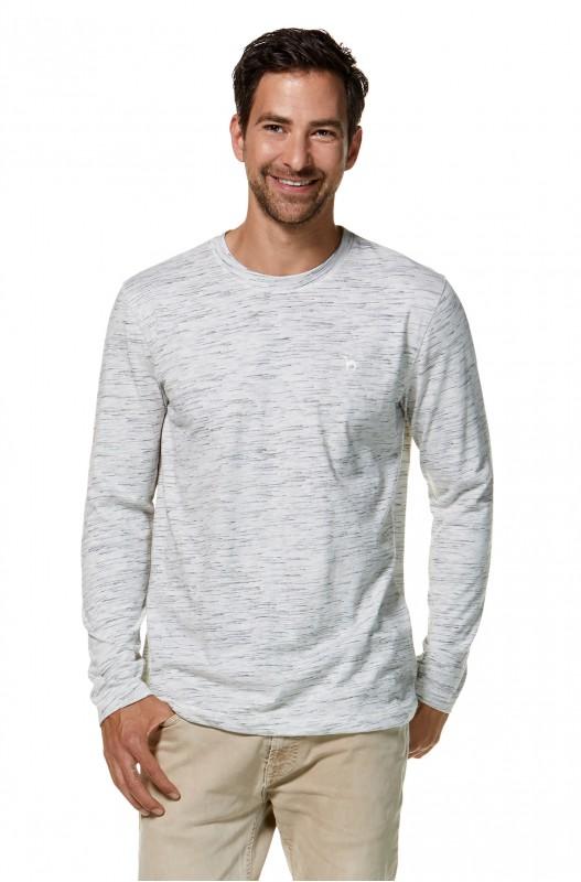 Mateo Royal-Longsleeve Shirt - Silver Black melange
