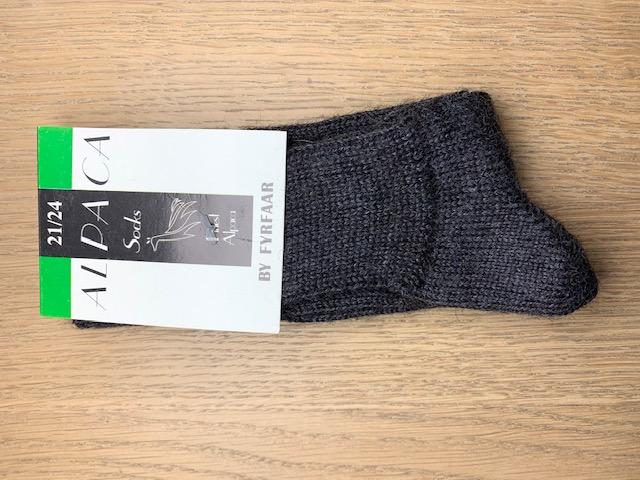 Fyrfår Alpaca sokker - str 21-24