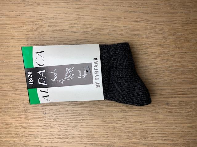 Fyrfår Alpaca sokker - str 18-20