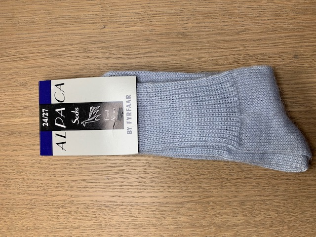 Fyrfår Alpaca sokker - str 25-28