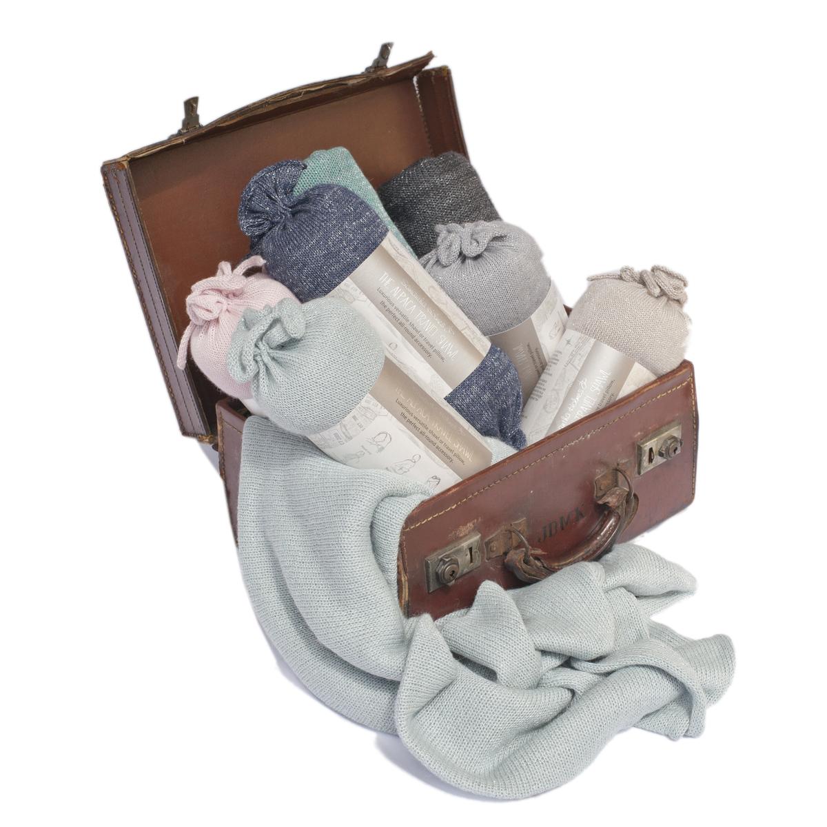 Sparkly Alpaca Travel Shawl/Pillow