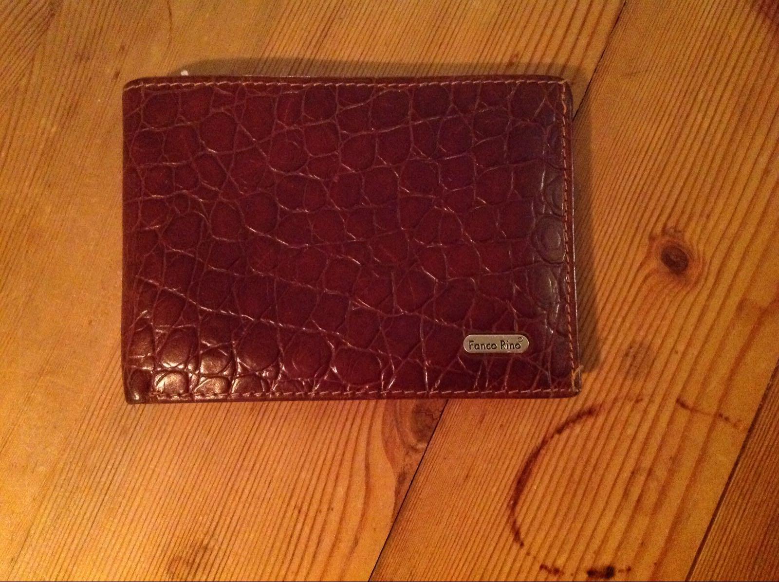 Plånbok brun  (second hand, vintage, retro)