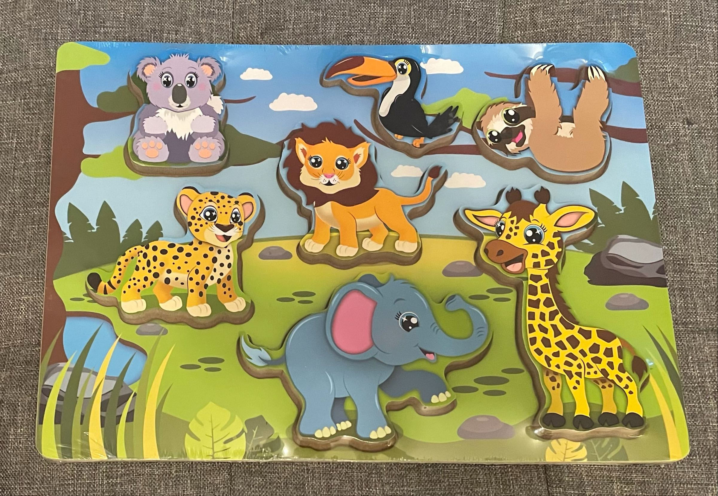 Jungle chunky wooden puzzle