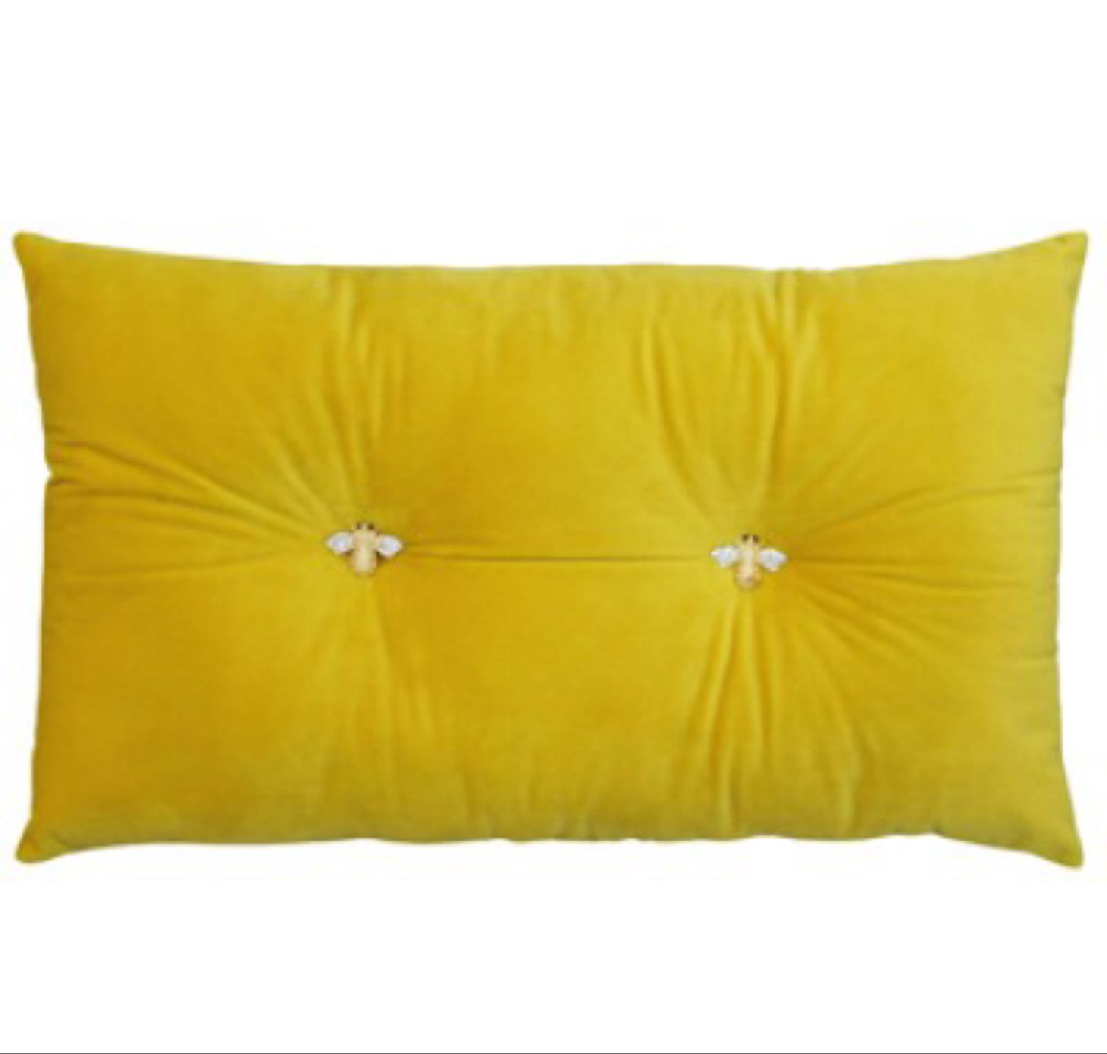 Mustard Bumble Bee Cushion 47cm x 30cm