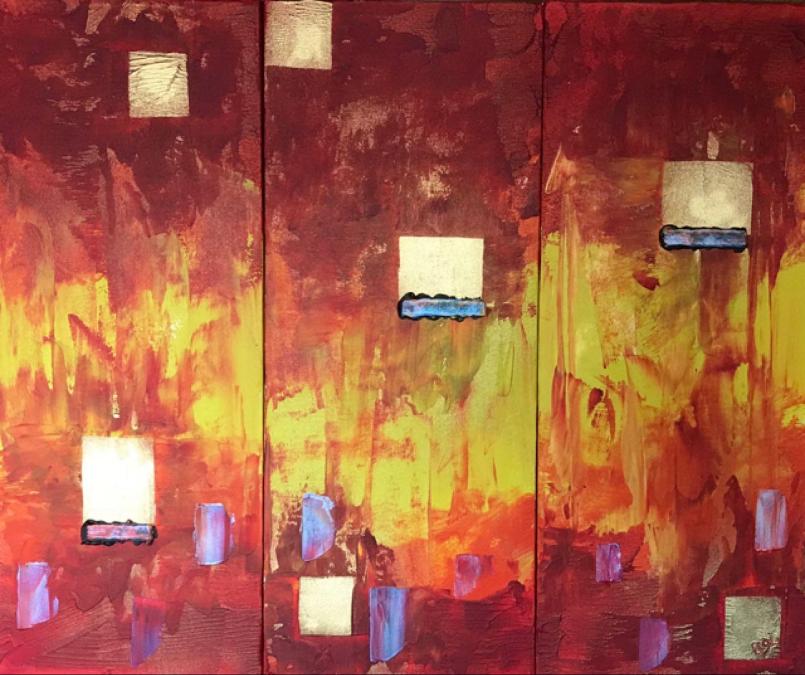Original Work 'Fiery City'