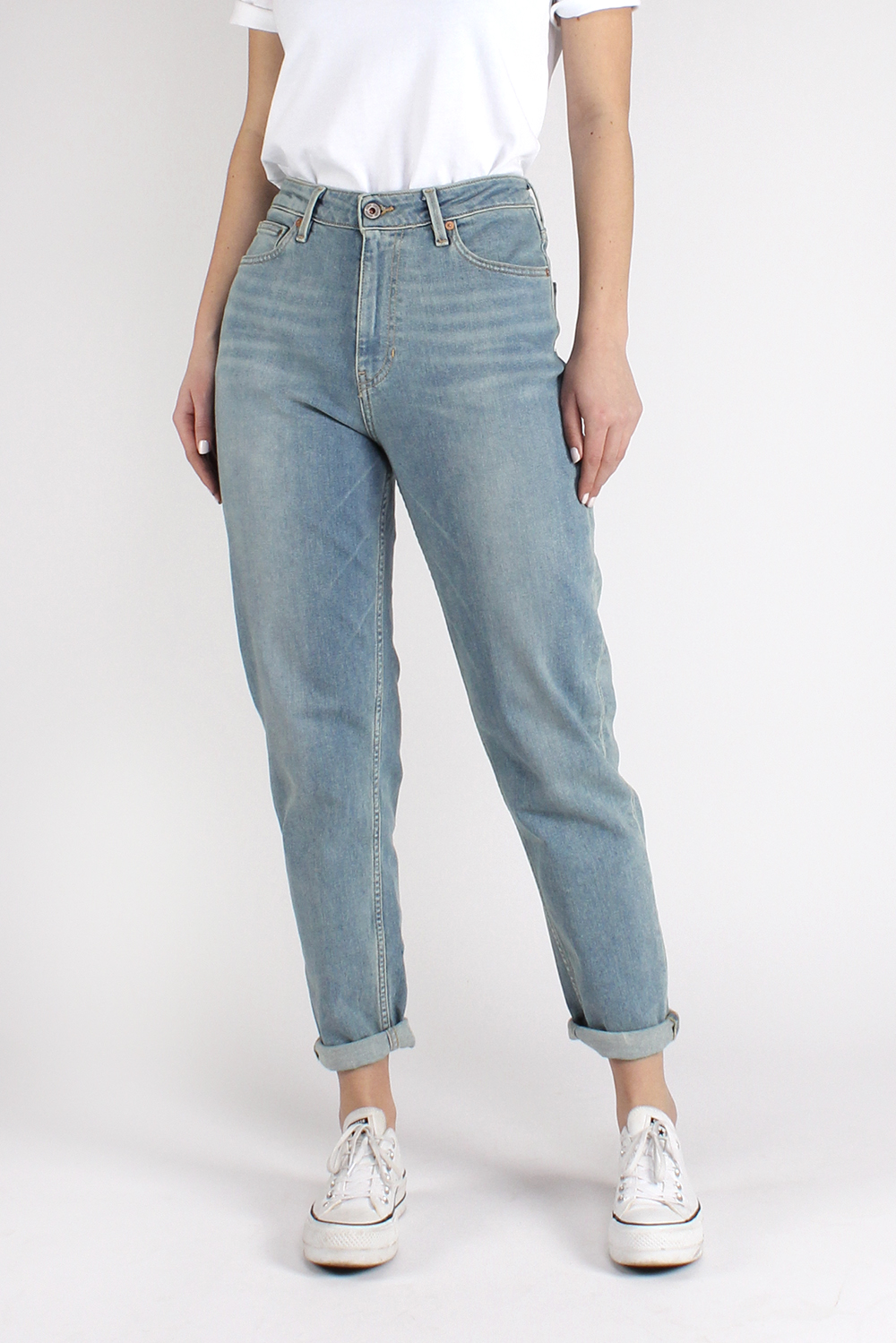 nora, faded blue, loose tapered, damen - kuyichi