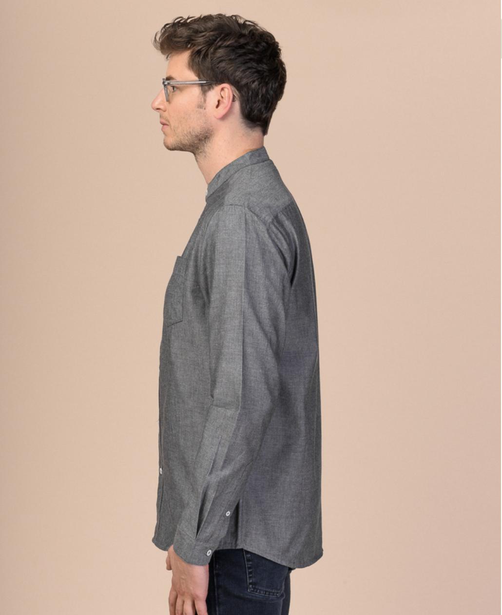 amit, shirt, grey blend, herren - melawear