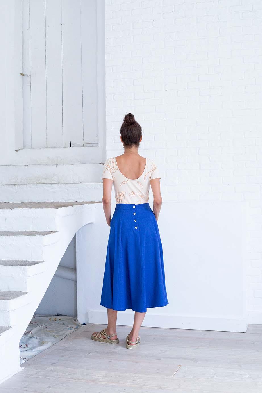 laurel skirt, grey mist, damen - suite 13