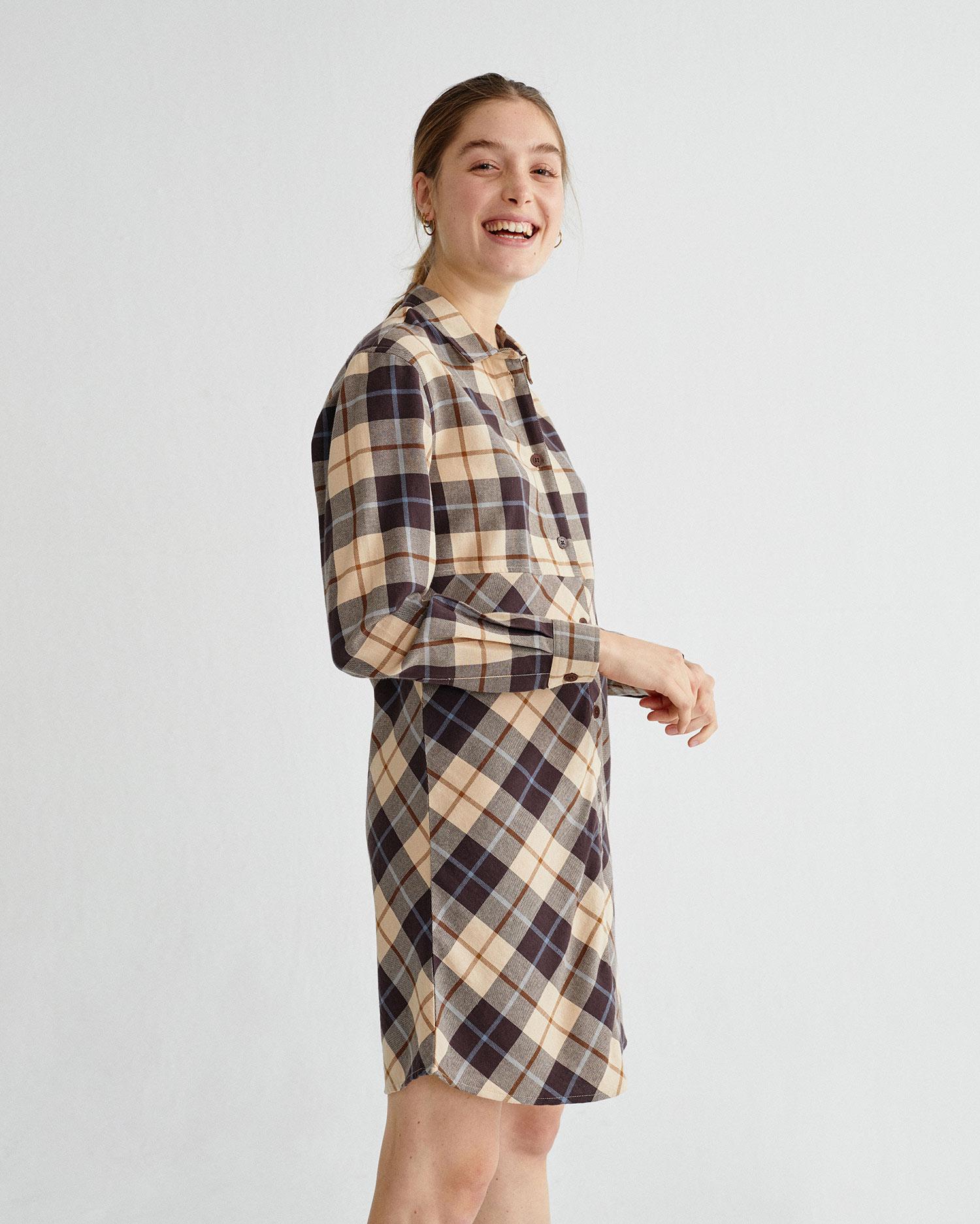 dress big checks, damen, thinking mu