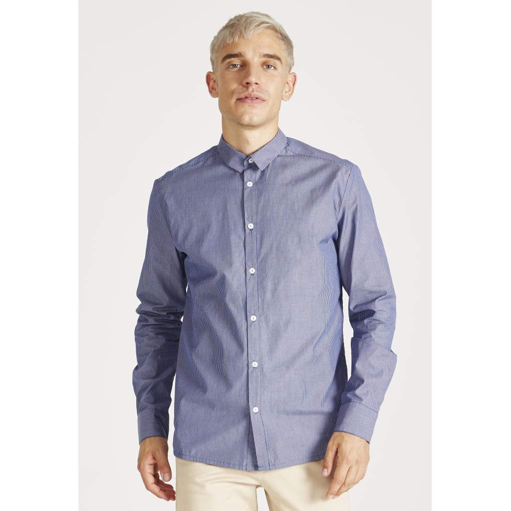 kent hemd, navy blue, herren - givn