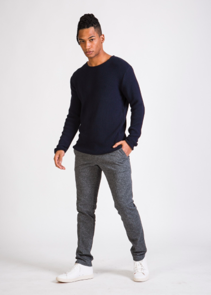 cole sweater, blue, herren - givn