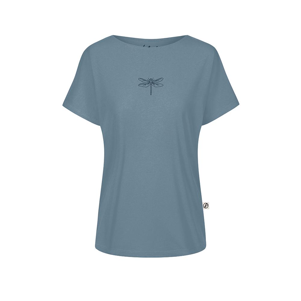 lakefly t-shirt blau forestfibre, damen - bleed