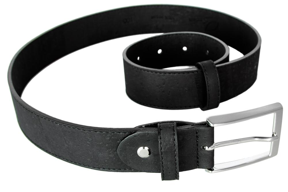 kork gürtel, breit, schwarz - simaru