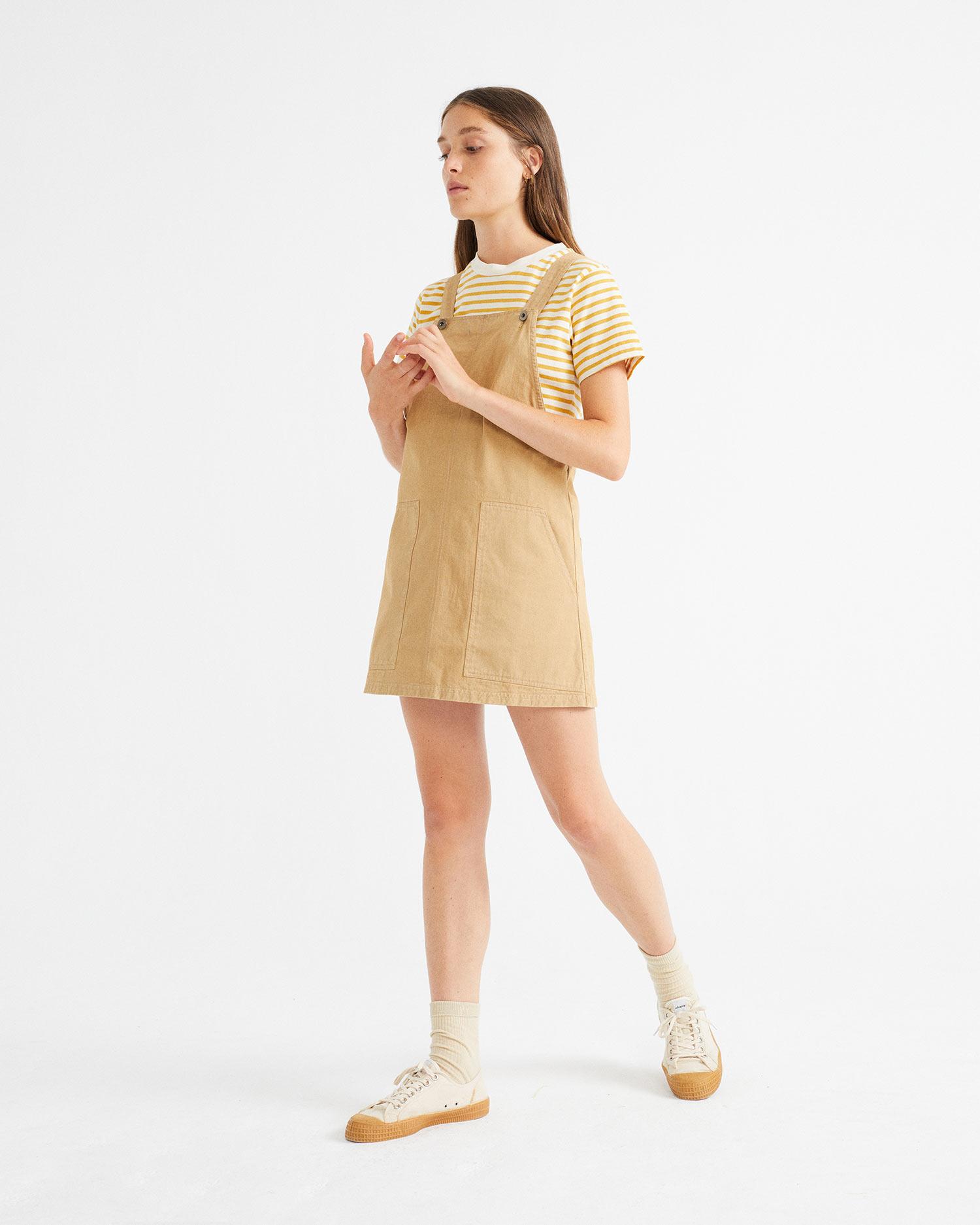 camel campanilla dress, damen - thinking mu