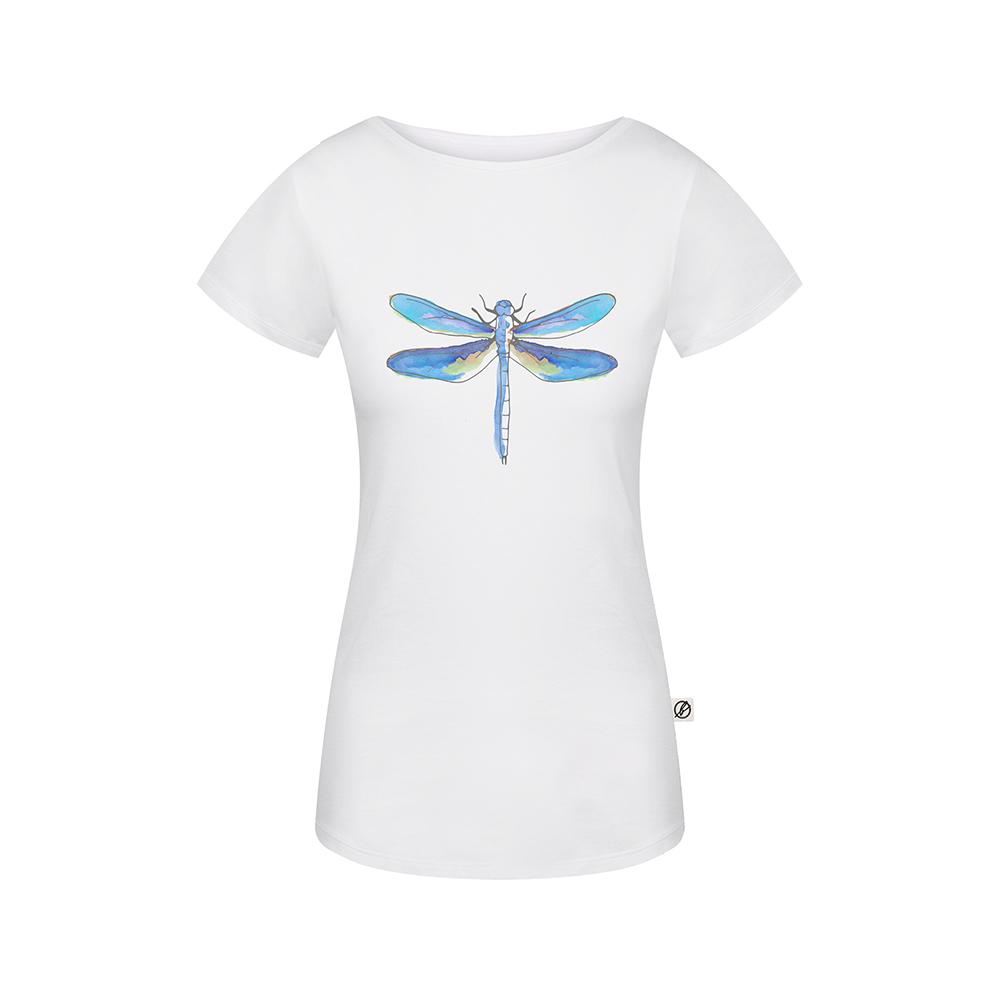 lakefly t-shirt weiss, damen - bleed