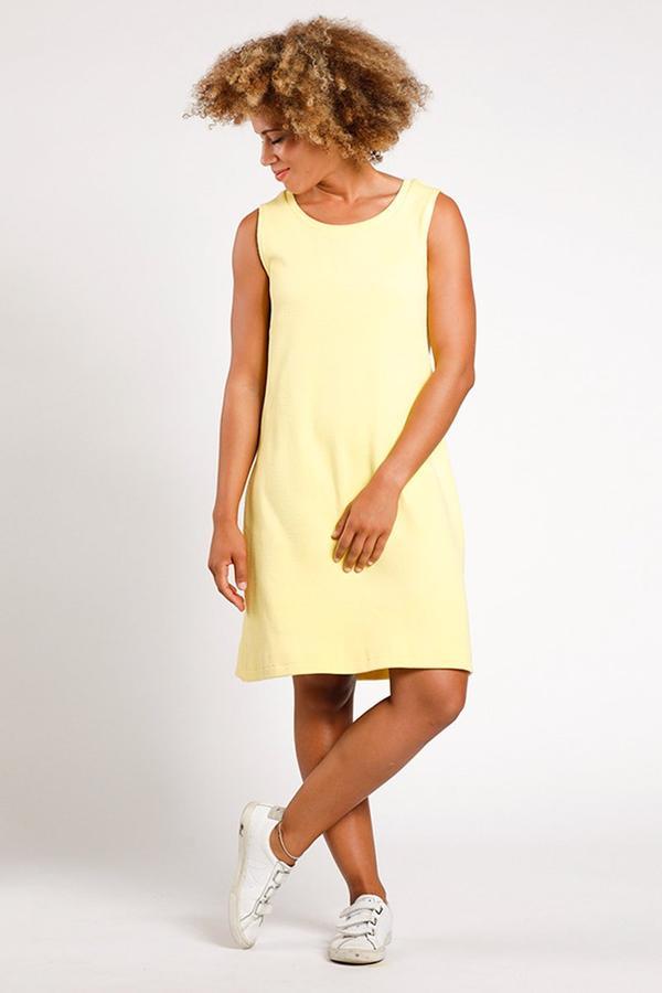 kleid sitafel, gelb, damen - [eyd]