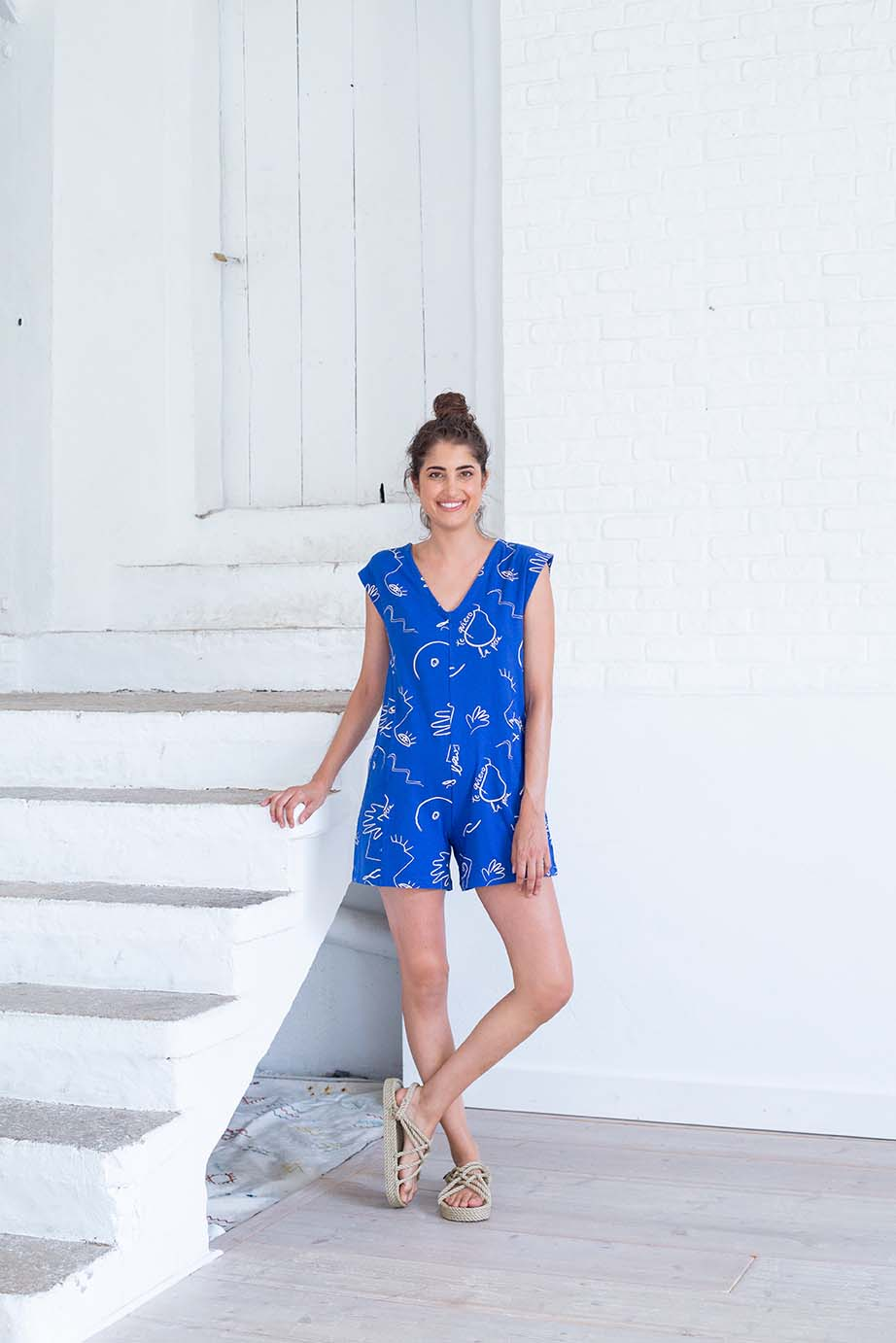 dallah jumpsuit, mazarine blue, damen - suite 13