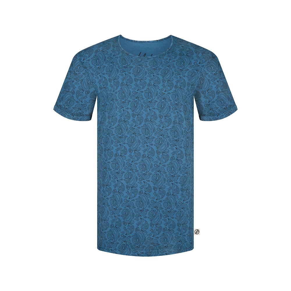 paisley allover t-shirt blau, herren - bleed