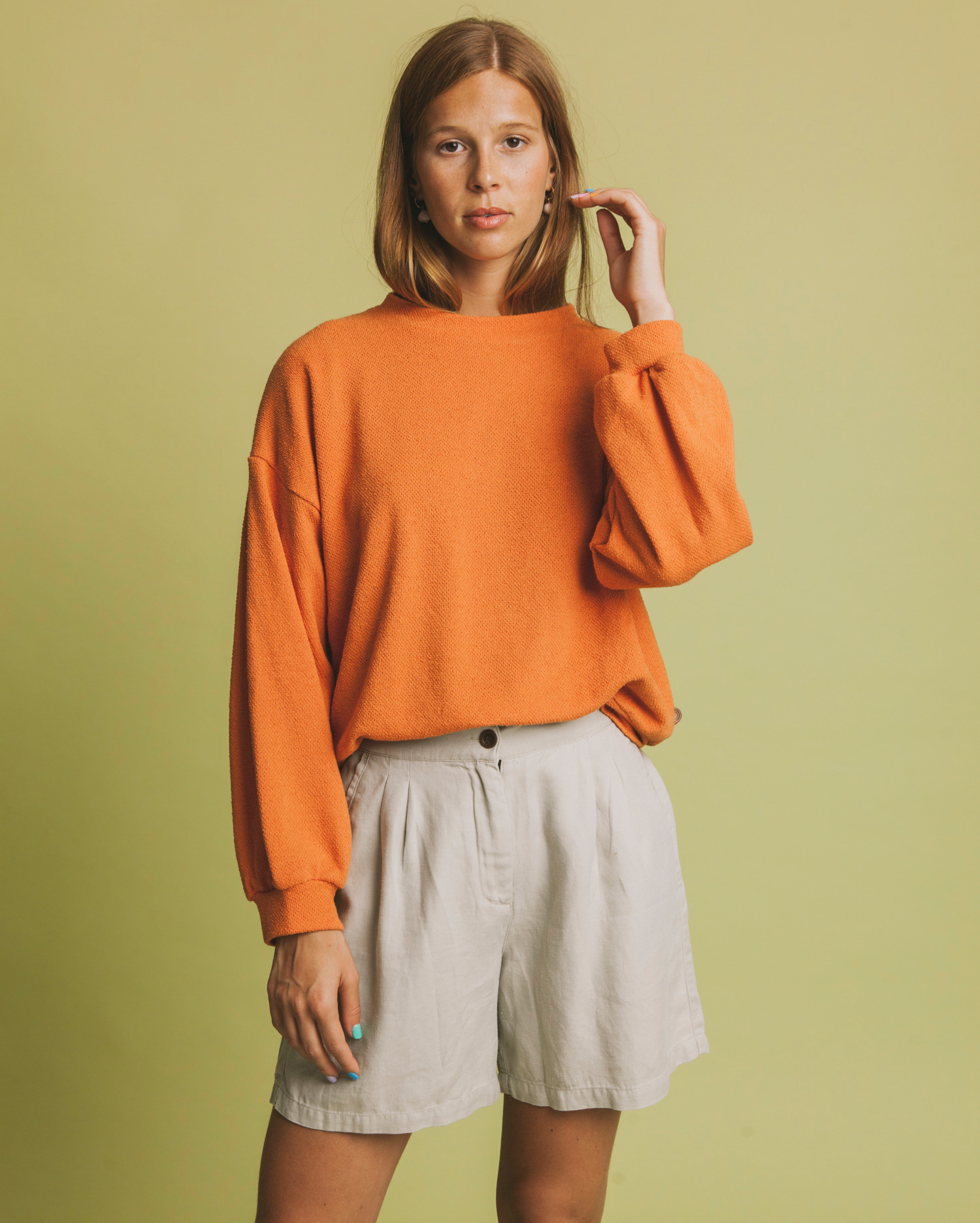 chilwa sweater, terracotta, damen - thinking mu