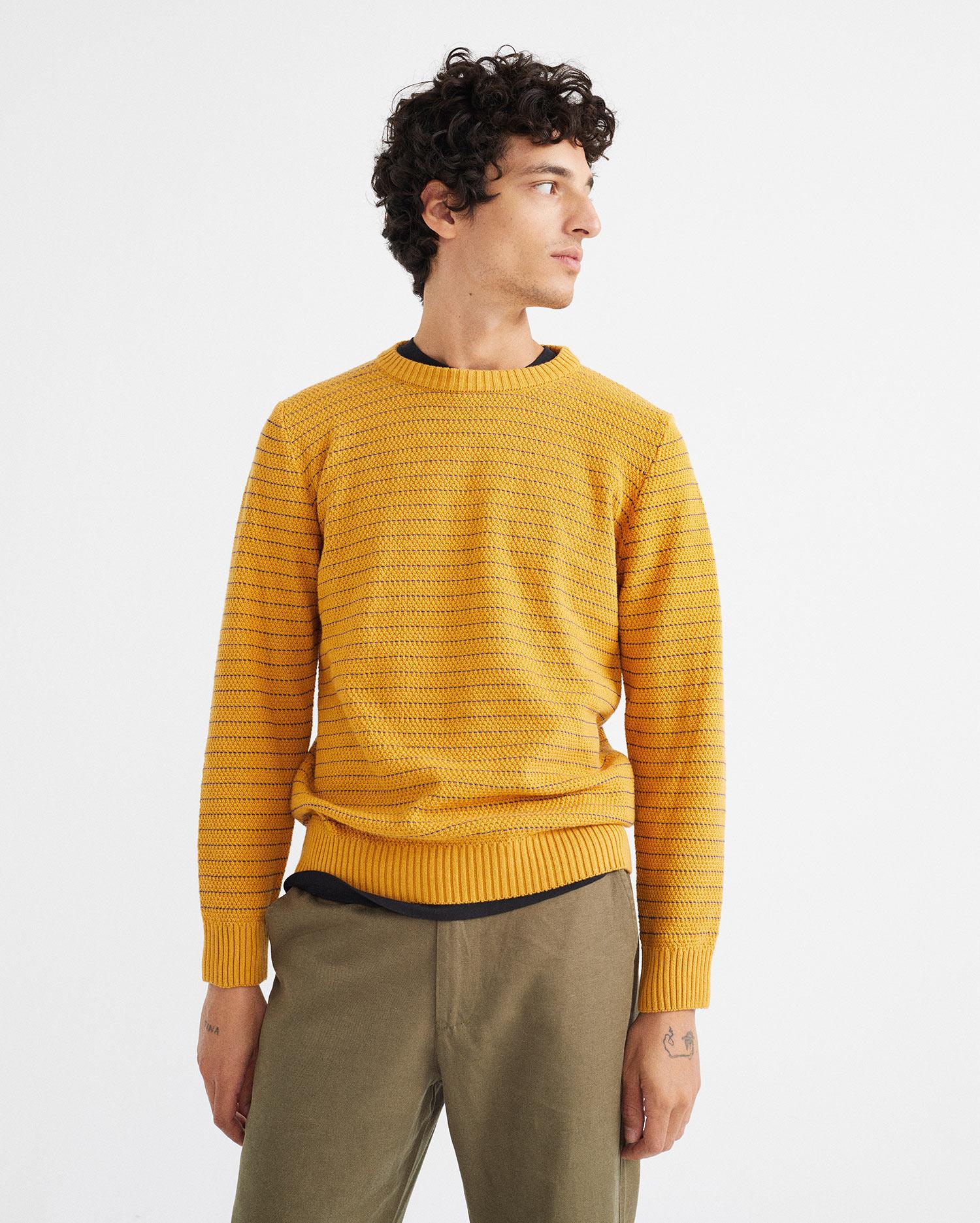 camel miki knitted sweater, herren - thinking mu
