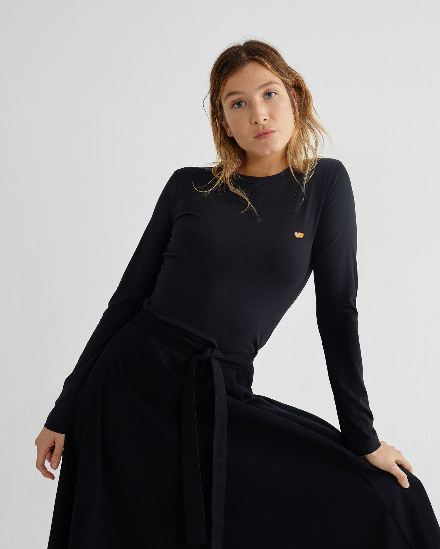 skirt black tauret, damen, thinking mu