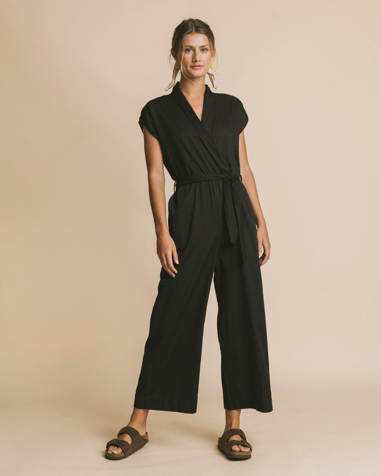 jumpsuit, black malawi, damen - thinking mu