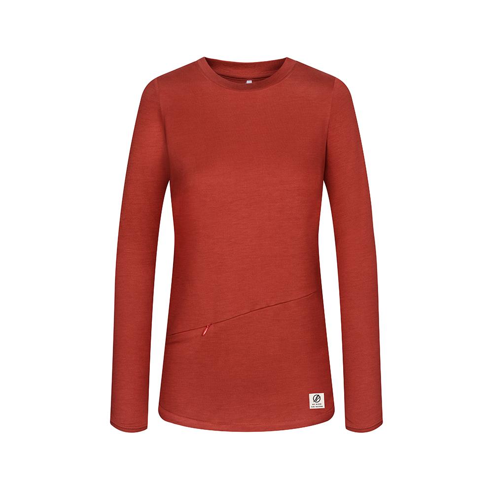 super active tencel sweater, rot, damen - bleed