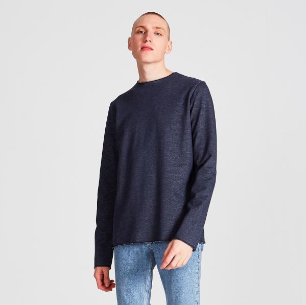 manu, sweater, blue, herren - givn