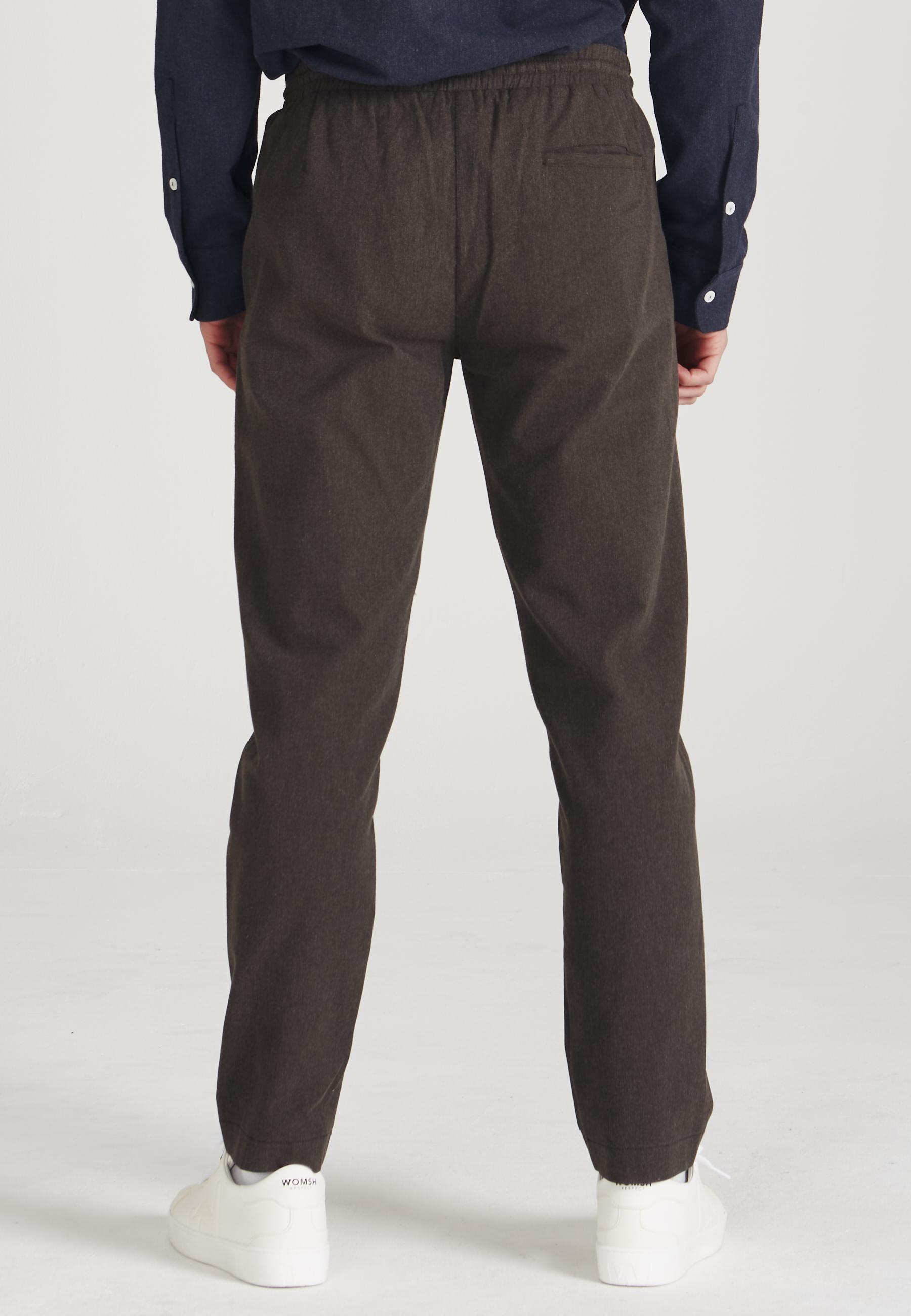 eric pants, dark brown, herren - givn