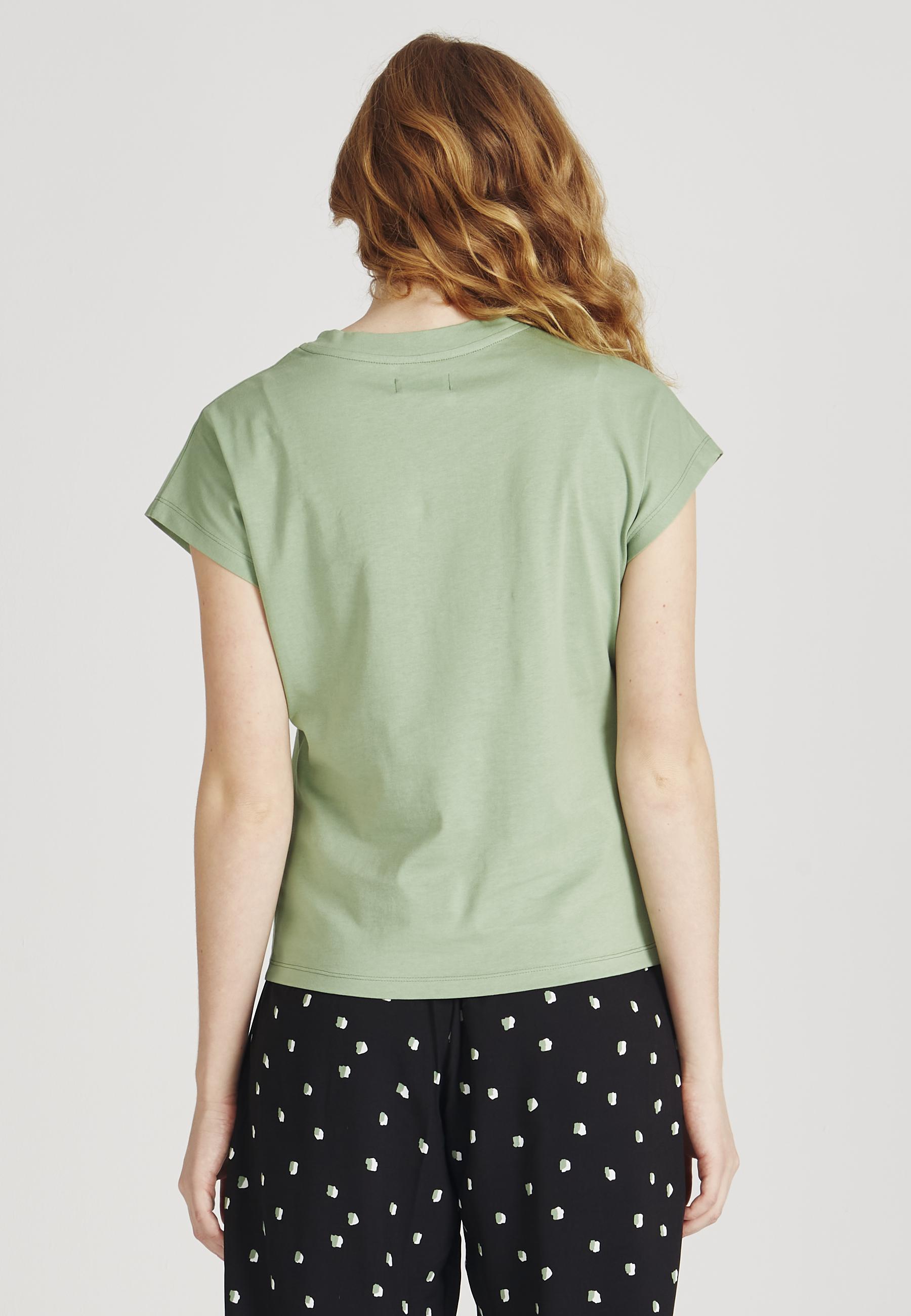 laila shirt, apple green, damen - givn