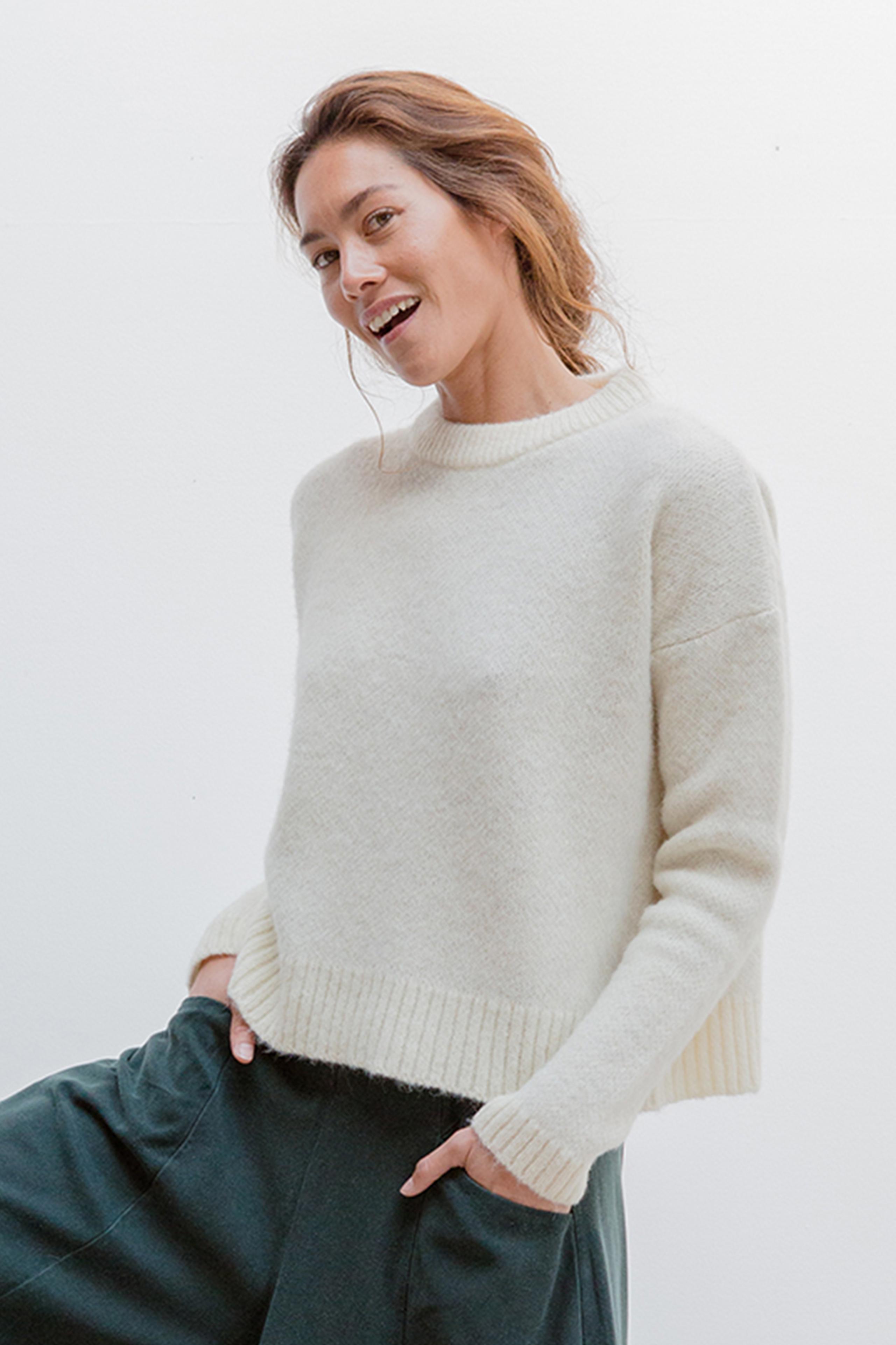 loy sweater, ecru, damen - suite 13