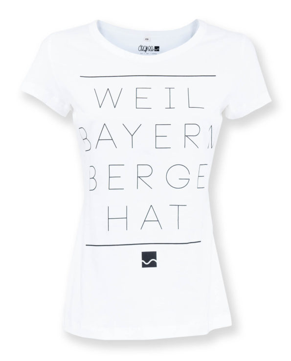 bayern berge, shirt, weiss damen - degree