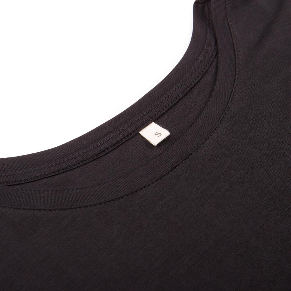 365 tencel t-shirt, schwarz, damen - bleed