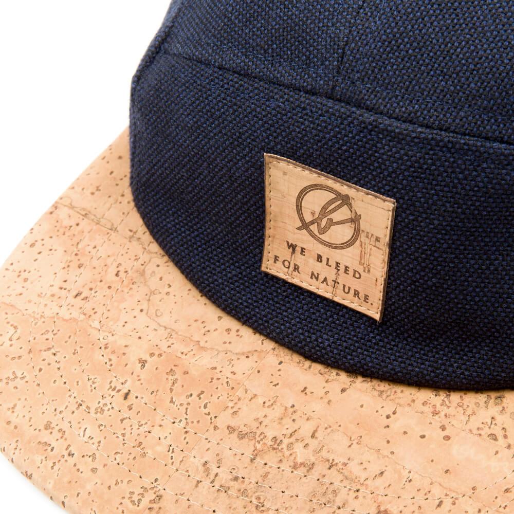 cork cap, 5 panel, dunkelblau - bleed