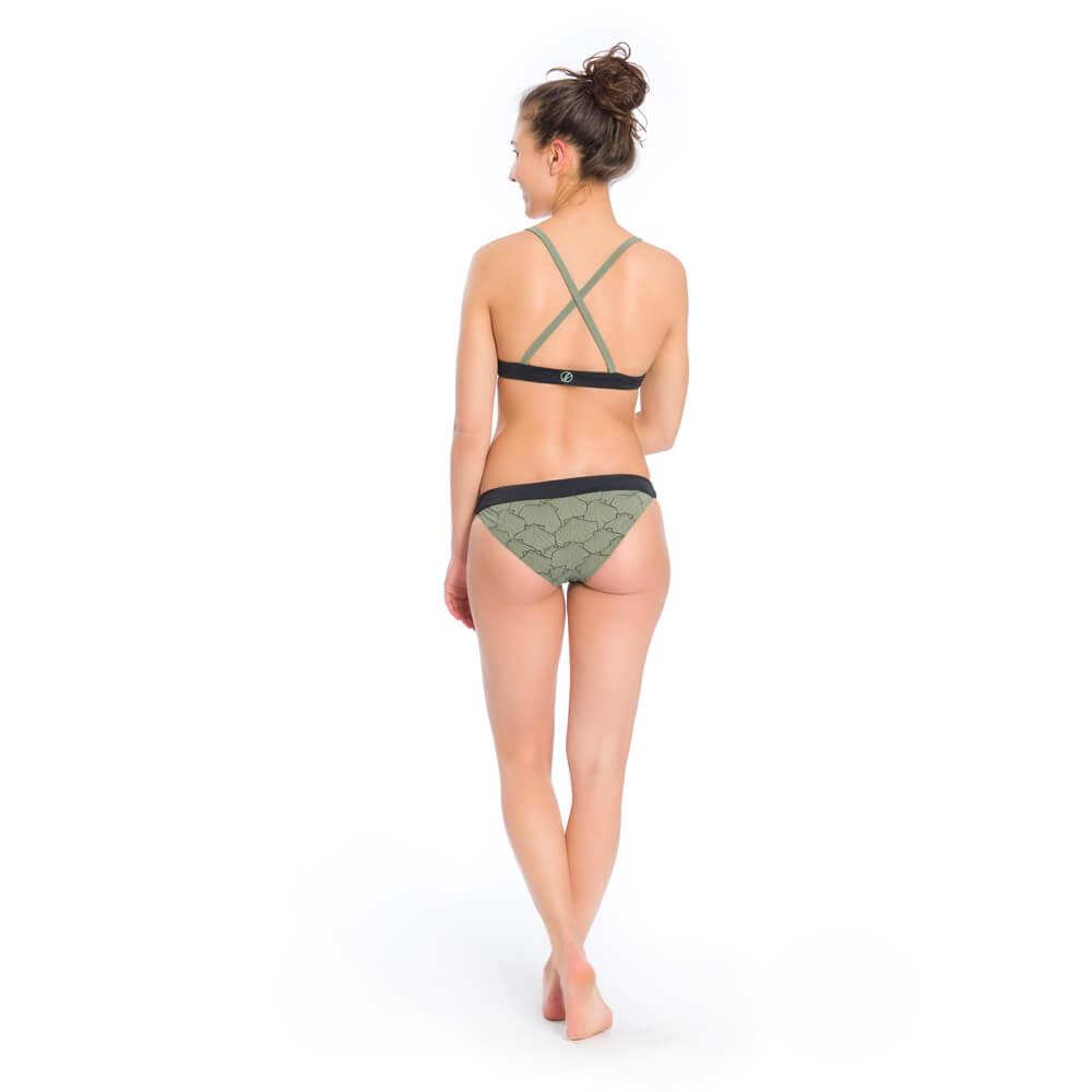 eco bikini hose, olivgrün, damen - bleed