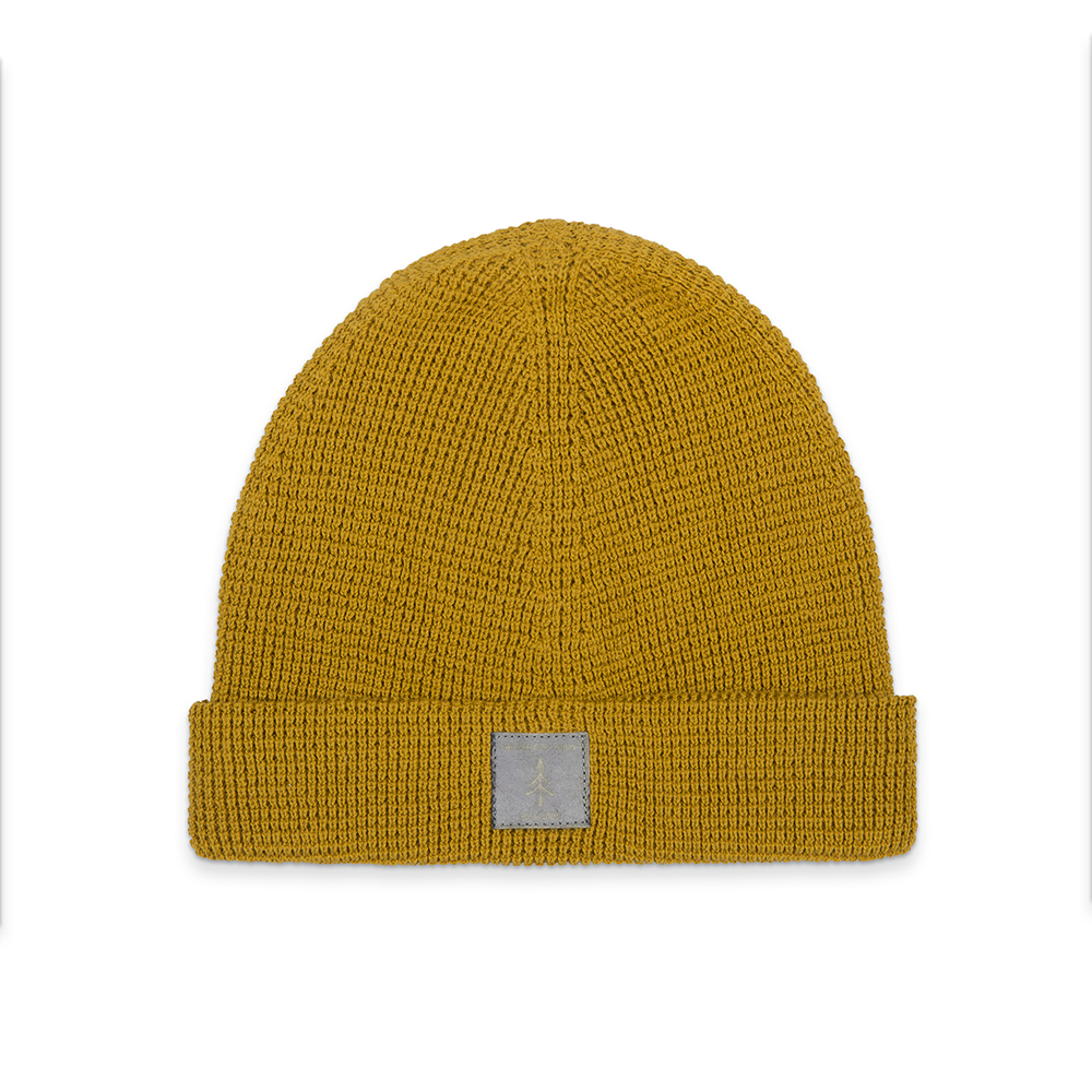 eco beanie, mustard, light-weight - bleed